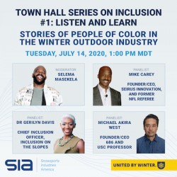 Inclusion Town Hall #1: Listen and Learn - Stories of People of Color in the Winter Outdoor Industry