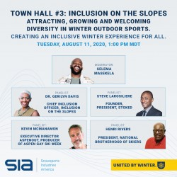 Inclusion Town Hall #3: Inclusion on the Slopes. Attracting, Growing and Welcoming Diversity in Winter Outdoor Sports