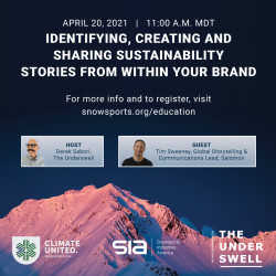 "ClimateUnited Week - ""Identifying, Creating and Sharing Sustainability Stories From Within Your Brand"""