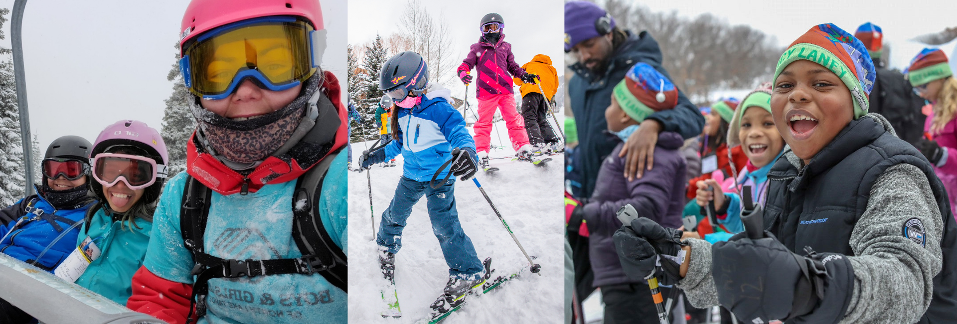 Photo from left to right: Boys & Girls Club North Lake Tahoe, Coombs Foundation / John Howland, The Loppet Foundation